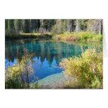 Poco lago crater tarjeton