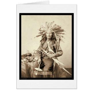 Poco, líder de Oglala en la rodilla herida SD 1890 Tarjeta