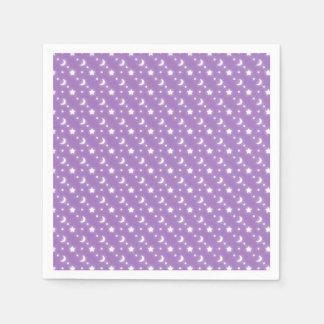 Poco modelo púrpura del fondo de las estrellas y servilleta desechable