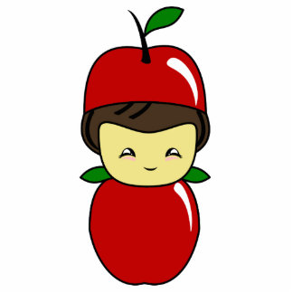 Poco muchacho de Kawaii Apple Esculturas Fotográficas