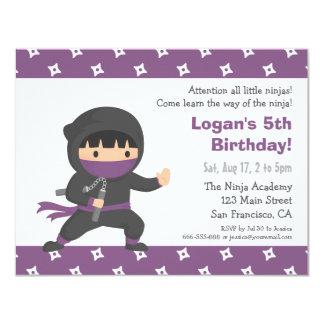 Poco Ninja embroma invitaciones de la fiesta de Invitación 10,8 X 13,9 Cm