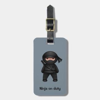Poco Ninja en gris Etiqueta Para Maleta