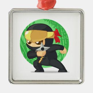 Poco Ninja que sostiene Shuriken Adornos De Navidad