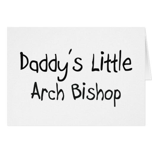 Poco obispo del arco del papá tarjeta de felicitación