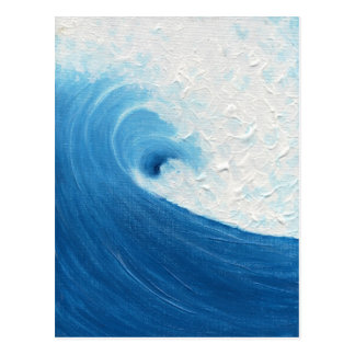 Poco onda azul postal