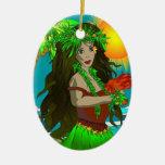 Poco ornamento de Hula Ornamentos De Navidad