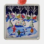 Poco ornamento del arte popular del invierno de la adorno de reyes