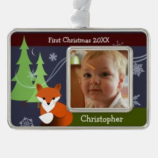 Poco ornamento del navidad del recuerdo del Fox Adornos Navideños
