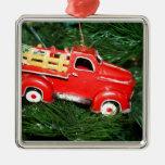 Poco ornamento rojo del navidad del camión de reco ornamento para arbol de navidad