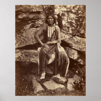 Poco oso, Cheyenne, 1875 Póster