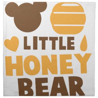 Poco oso de miel con el pote de la miel lindo servilletas