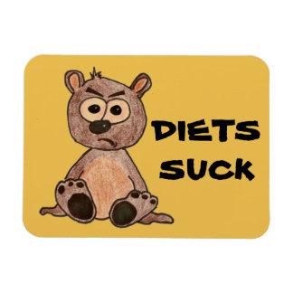 Poco oso gruñón dice que las dietas chupan imanes