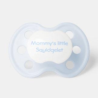 Poco pacificador del squidglet de la mamá chupetes para bebés