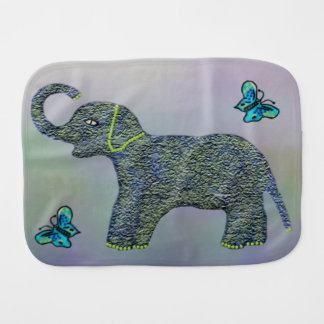 Poco paño del Burp del elefante del jade Paños De Bebé