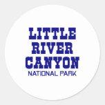 Poco parque nacional del barranco del río pegatina redonda