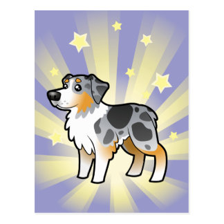 Poco pastor del australiano de la estrella tarjeta postal