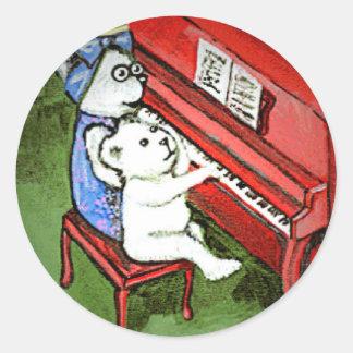 Poco pegatina de la melodía del oso y de la abuela