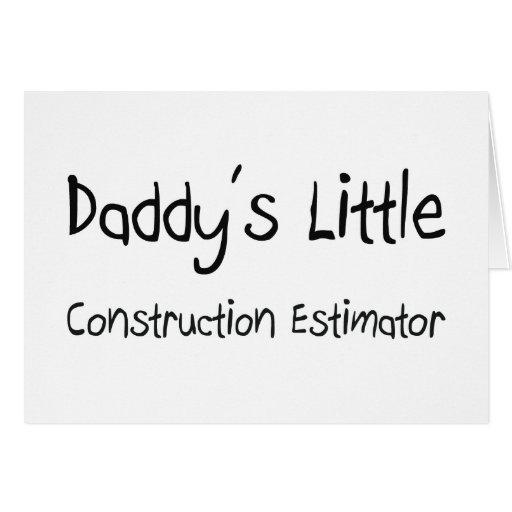 Poco perito de la construcción del papá tarjeta de felicitación