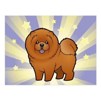 Poco perro chino de perro chino de la estrella postales