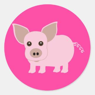 Poco Piggie Pegatina Redonda