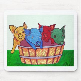 Poco Piggies por Piliero Alfombrilla De Ratón