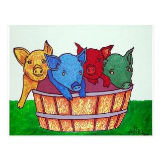 Poco Piggies por Piliero Tarjeta Postal