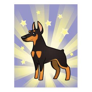 Poco Pinscher del Doberman de la estrella (oídos p Tarjetas Postales