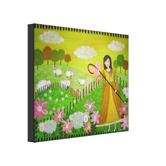 Poco pío del arco - la poesía infantil 16x20 impresión en tela