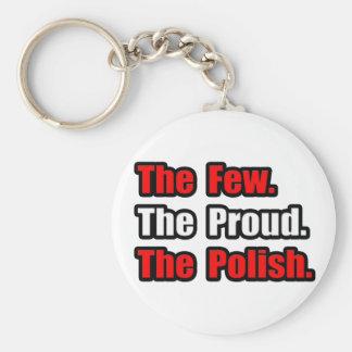 Poco polaco orgulloso llavero redondo tipo pin