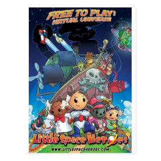 Poco poster de los héroes del espacio tarjeta postal