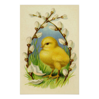 Poco poster del polluelo de Pascua Póster