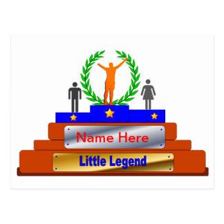 Poco premio de la leyenda. Personalizar con nombre Postales