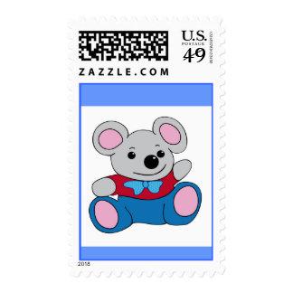 Poco ratón del dibujo animado sellos