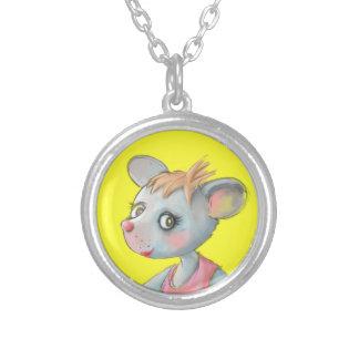 Poco ratón rosado del vestido - collar