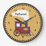 Poco reloj de pared del motor del tren