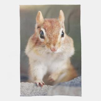 Poco retrato del Chipmunk Toallas