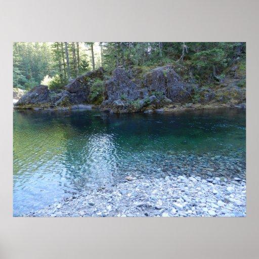 Poco río de North Fork Santiam Póster