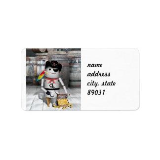 Poco Robo-x9 para la charla como un día del pirata Etiquetas De Dirección