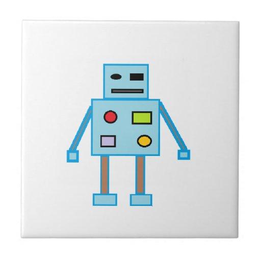 Poco robot azul azulejos cerámicos