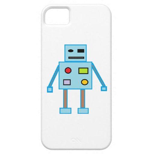 Poco robot azul iPhone 5 cárcasa