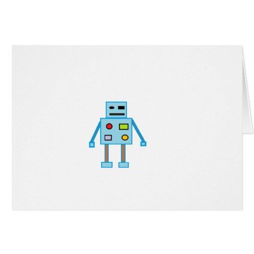 Poco robot azul tarjeta de felicitación