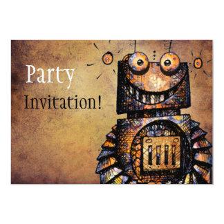 """Poco robot invitación 5"""" x 7"""""""