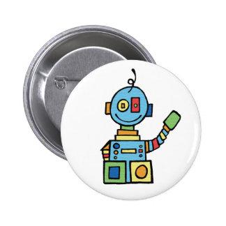Poco robot pin redondo de 2 pulgadas