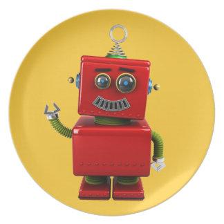 Poco robot plato de comida