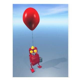 Poco robot rojo 1 del cumpleaños tarjetón