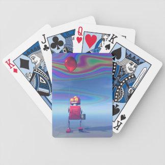 Poco robot rojo 2 del cumpleaños cartas de juego