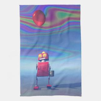 Poco robot rojo 2 del cumpleaños toallas de mano