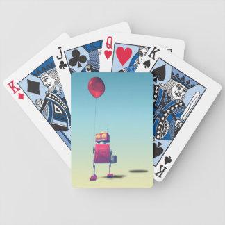 Poco robot rojo 3 del cumpleaños cartas de juego