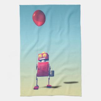 Poco robot rojo 3 del cumpleaños toallas de mano