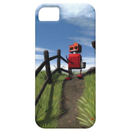 Poco robot rojo iPhone 5 carcasas